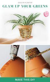 Machen Sie #dieses #Wochenende: #Machen #Ihres #Garten #Seven #a #bit #more #glam #with #sequins, #glitter, #or #rhinestones #around #the #pot! # #diy # #garden # #homedecor,  #bit #Dieses #DIY #Garden #garten #gartengestalten #glam #glitter #homedecor #Ihres #machen #pot #rhinestones #sequins #Sie #Wochenende