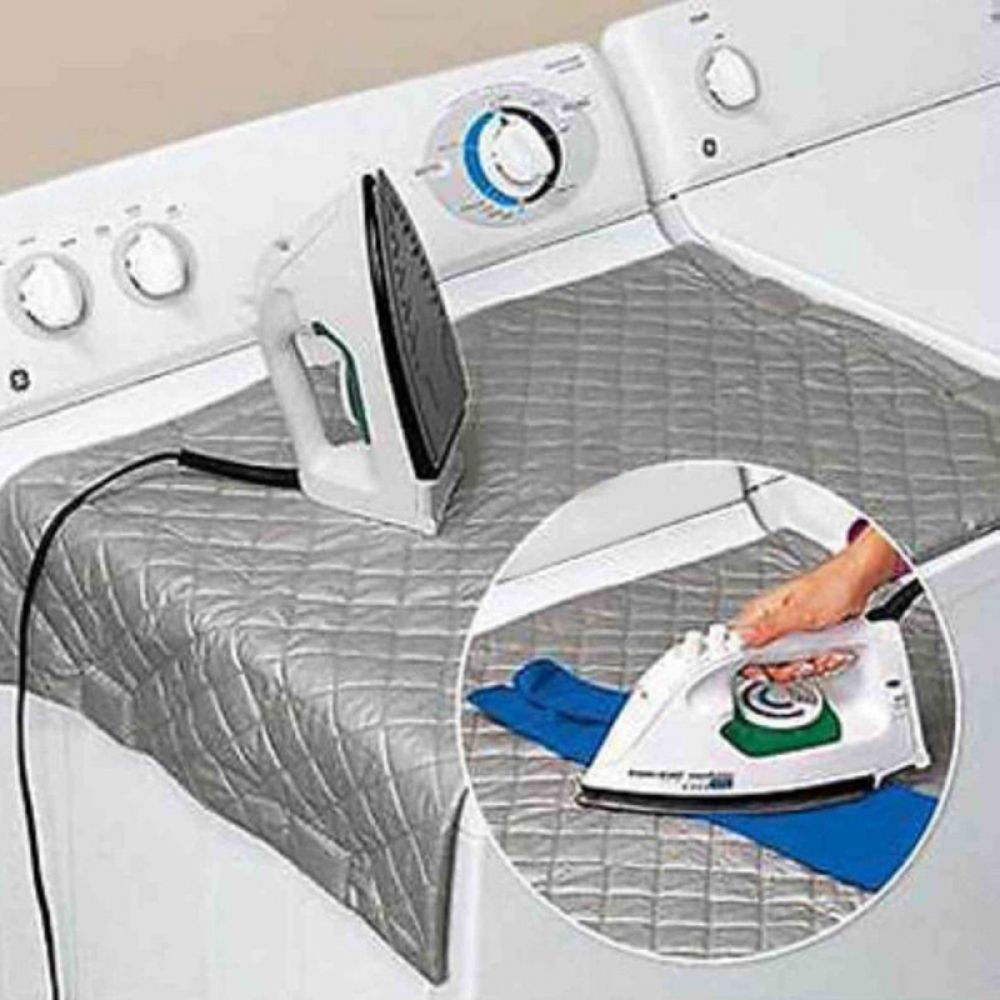 Portable Magnetic Mat Washer Ironing Cover Dryer Board Heat Resistant Blanket US