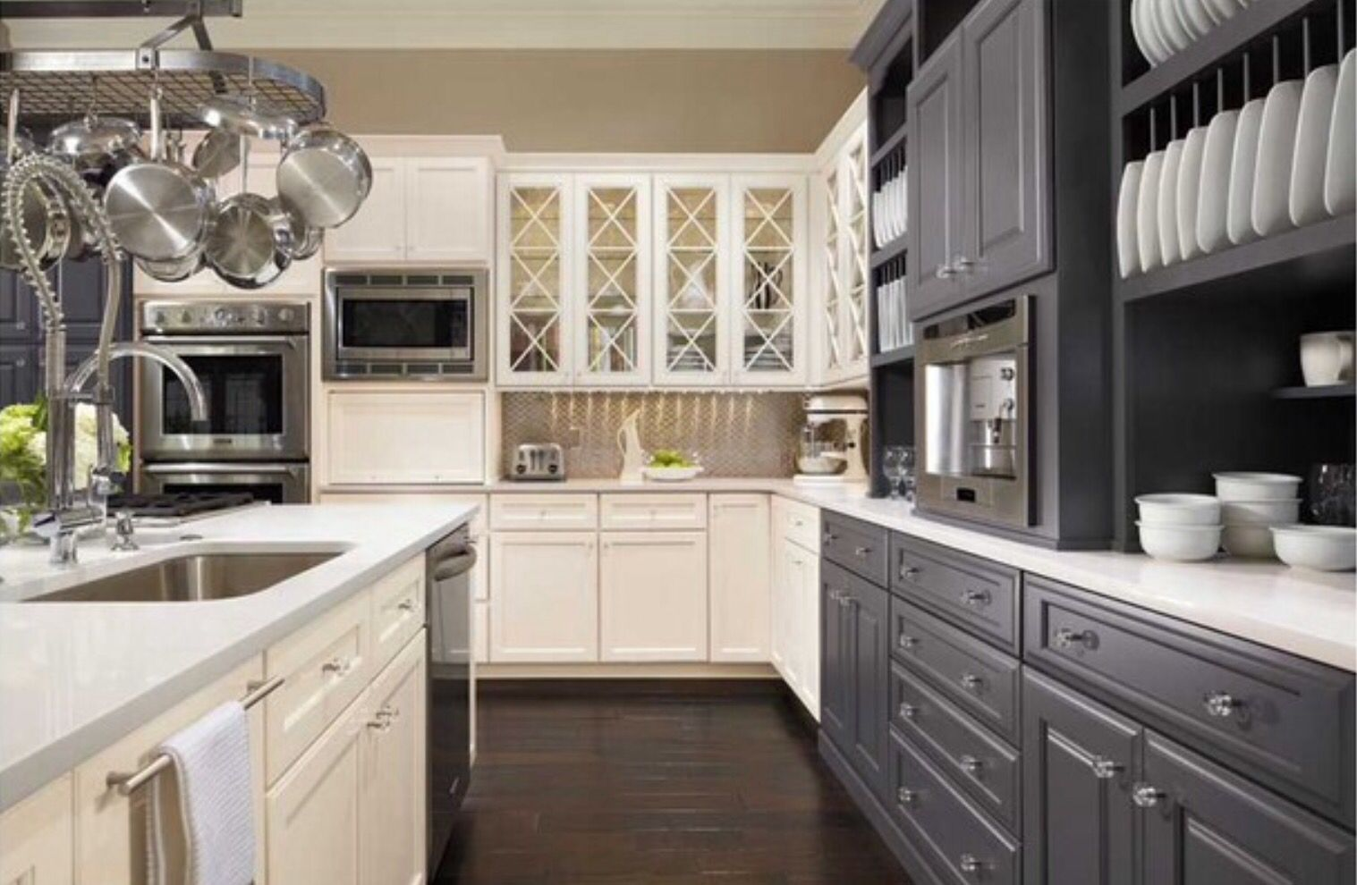 Sherwin williams arcade white on cabinets web gray for The web kitchen