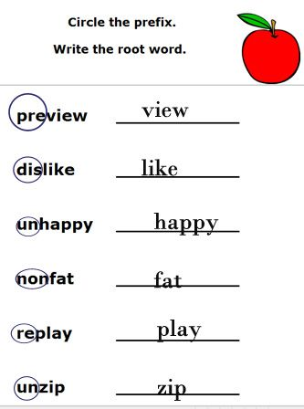 Worksheets Prefix And Suffix Free Printable Worksheet prefixes suffixes and root words worksheets free printable grade english elementary school language arts lesson plans g