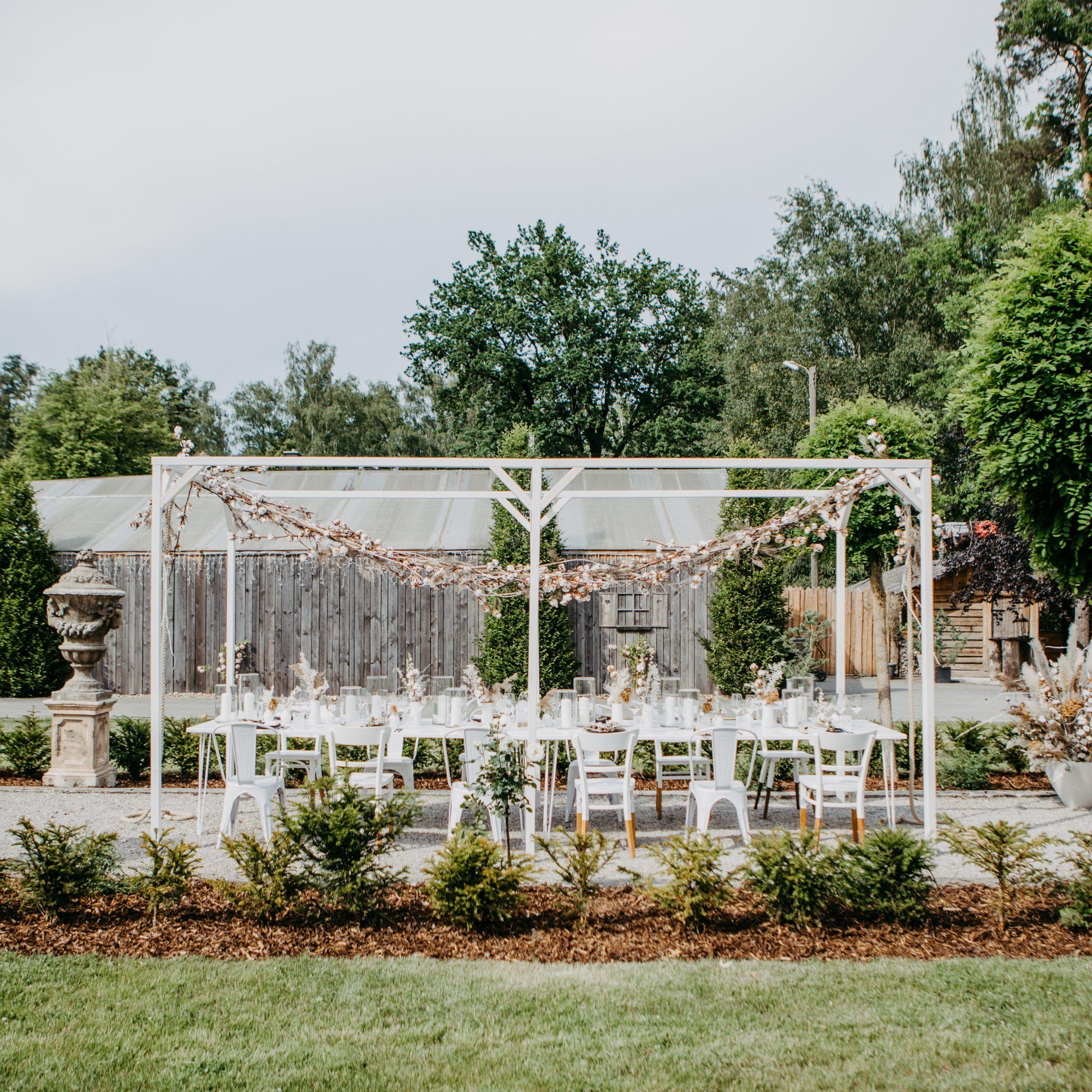 Garten Hochzeit Weinkiste Im Freien Laterne