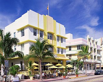 Outdoor Cafe In Front Of The Leslie Hotel Ocean Drive Art Deco District Miami Beach South Florida United States America North