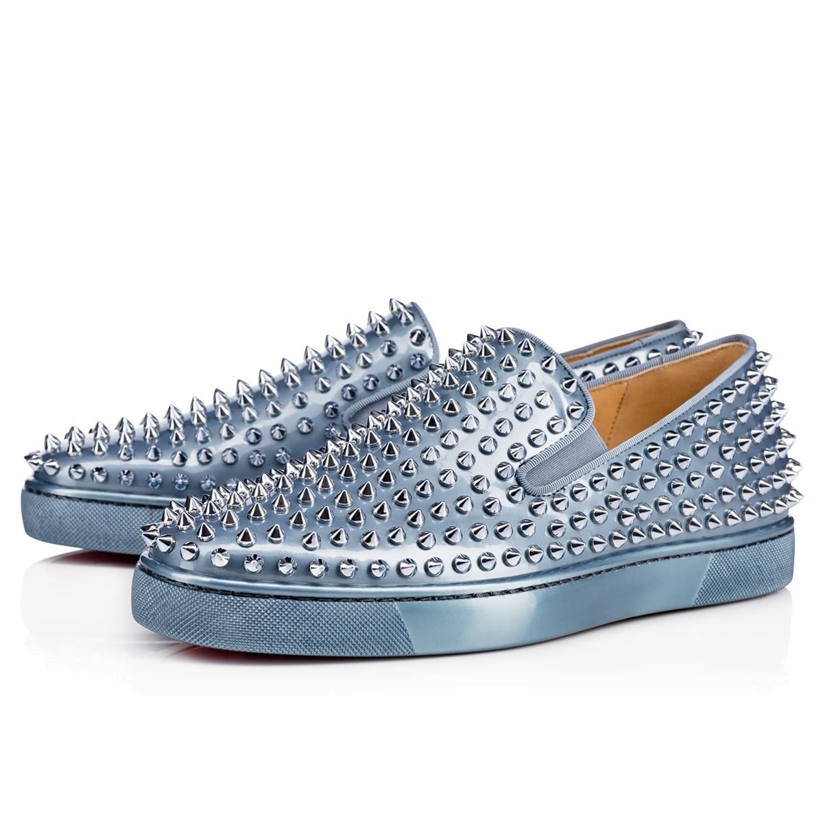 26510adaf3e authentic christian louboutin roller boat metal patent poseidon patent  calfskin men shoes christian louboutin. christianlouboutin