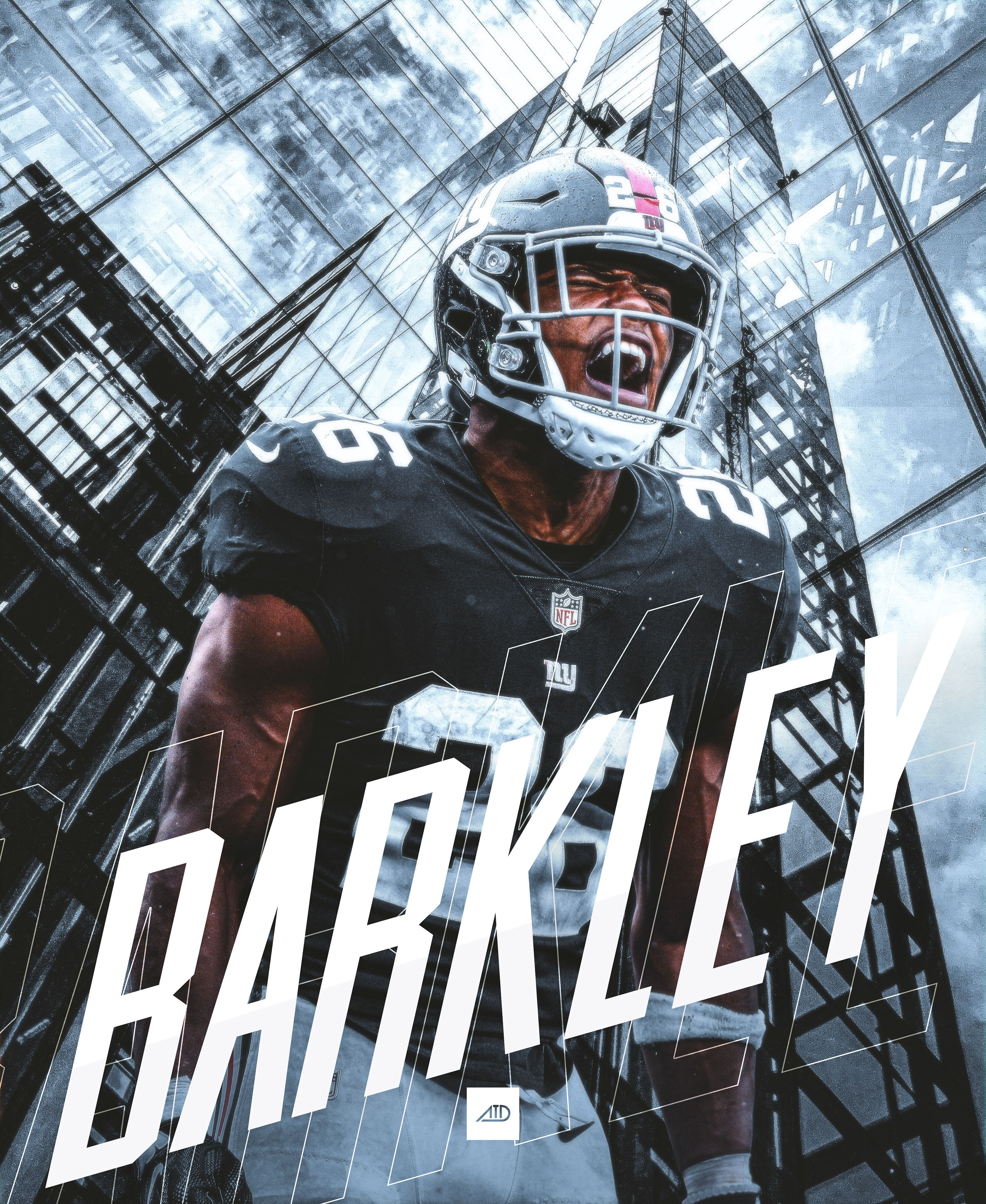NFL Artwork Saquon Barkley 'King of New York' Giants on