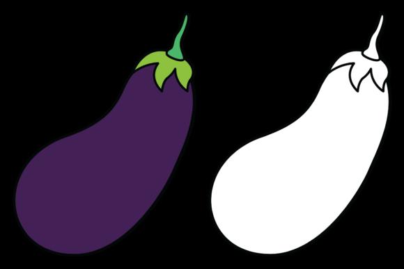 Coloring Eggplant For Kids In 2020 Illustration Design Template Design Color