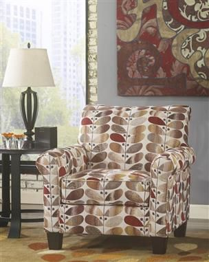 Ekron Oatmeal Polyester Accent Chair