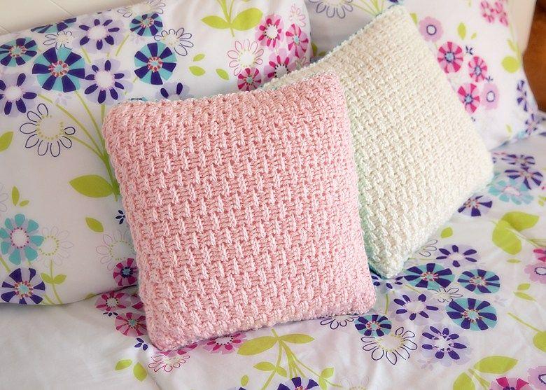 Patrón libre de almohada cubierta de ganchillo | Almohadones crochet ...