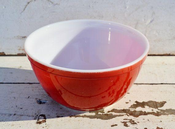 Red Pyrex Bowl Primary Mixing Nesting #402 1.5 Quart | Pyrex bowls ...