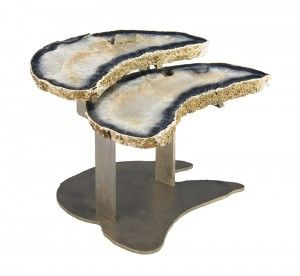Agate Nested Side Tables From Brenda Houston, Available at HOLLY HUNT in L.A.