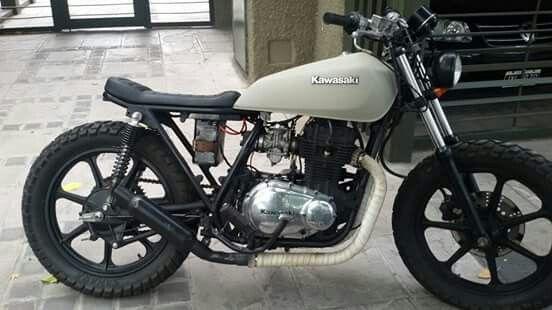 Kawasaki KZ440 | Cafe Racers | Kawasaki bikes, Brat bike