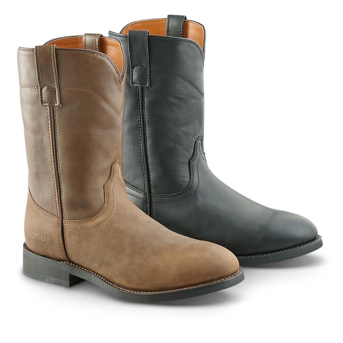 789c24979 Guide Gear Men's Western Roper Boots, Brown / Black | 365 Outdoor ...