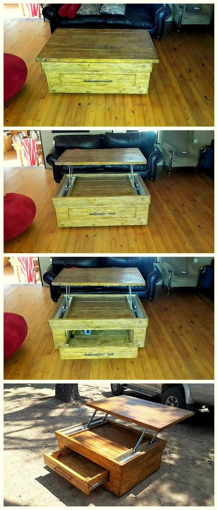 pallet coffee table Pallet furniture, Wood pallets