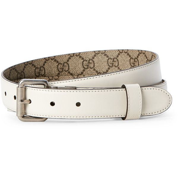 a9e228e21ec Gucci Reversible Logo Leather Belt (250 CAD) ❤ liked on Polyvore featuring  men s fashion