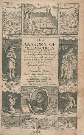 Robert Burton\'s The Anatomy of Melancholy (London: Printed for John ...