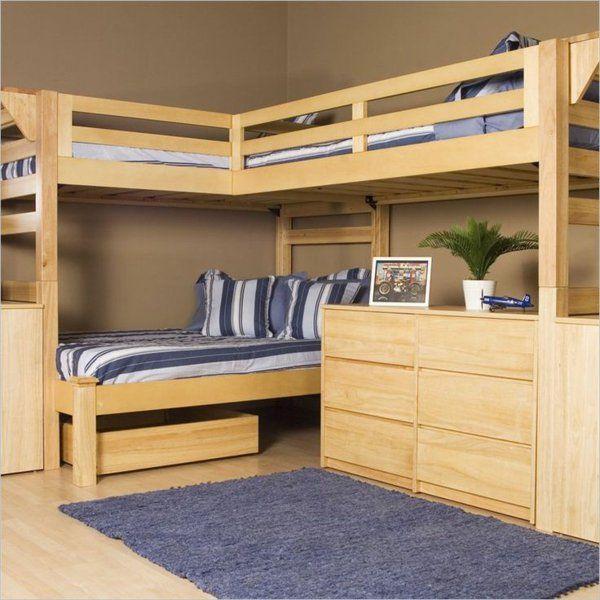 Stockbett Aus Holz Bunk Bed With Desk Modern Bunk Beds