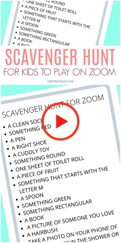 Scavenger Hunt Zoom (GRATUIT imprimable pour les enfants