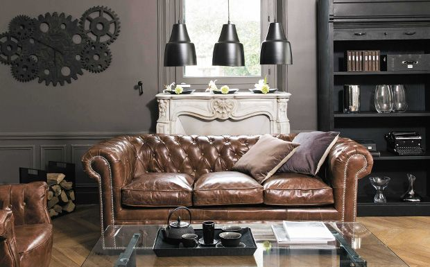 3 ambiances d co avec un canap chesterfield canap s for Acheter un divan