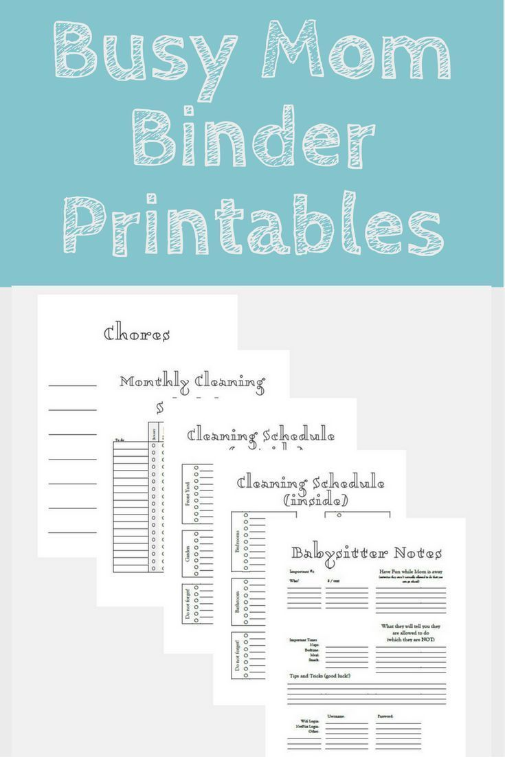 Printable Planner, Organizer, Cleaning Schedule, Daily Planner ...