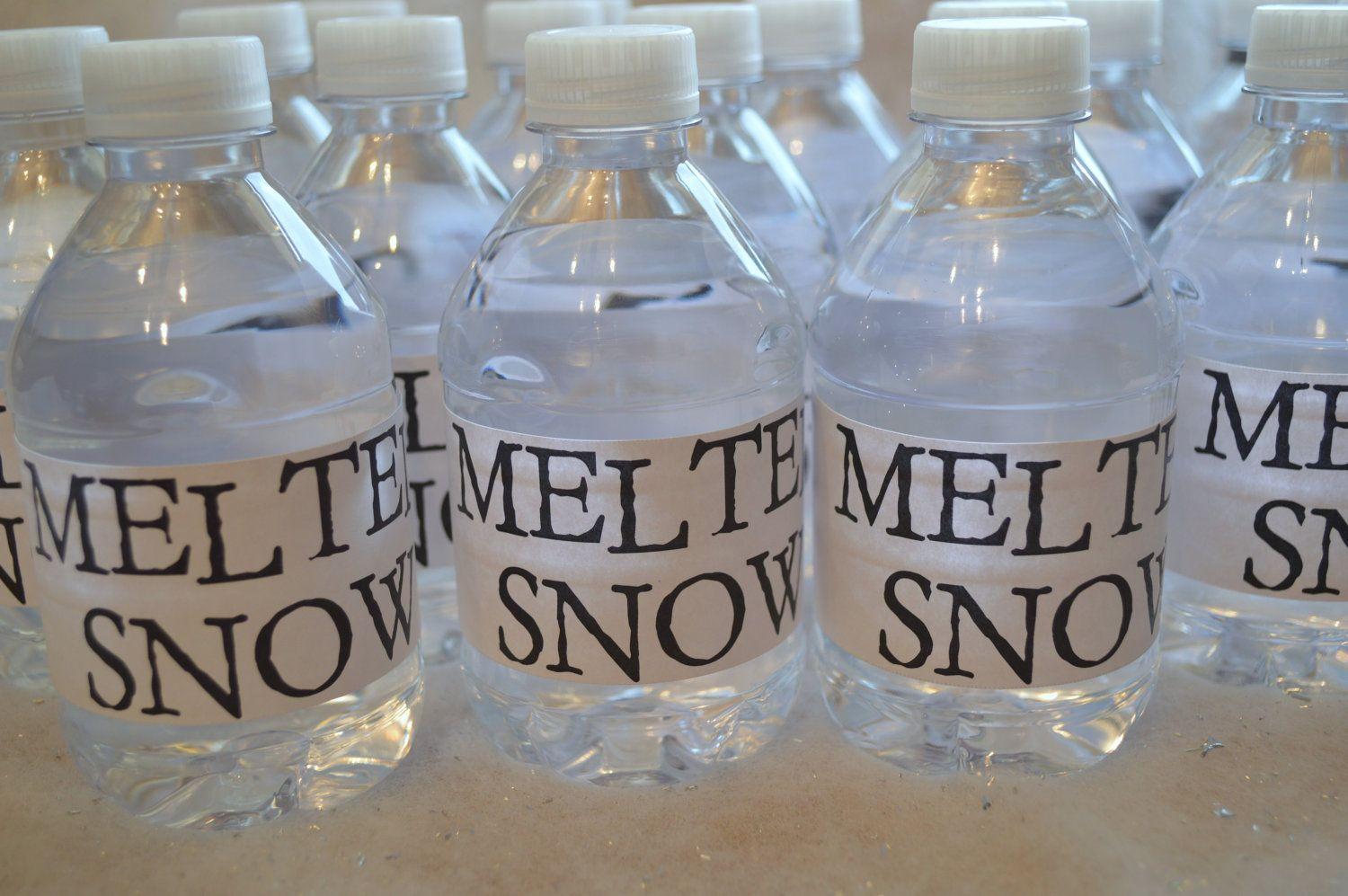 Melted Snow Printable Water Bottle Labels