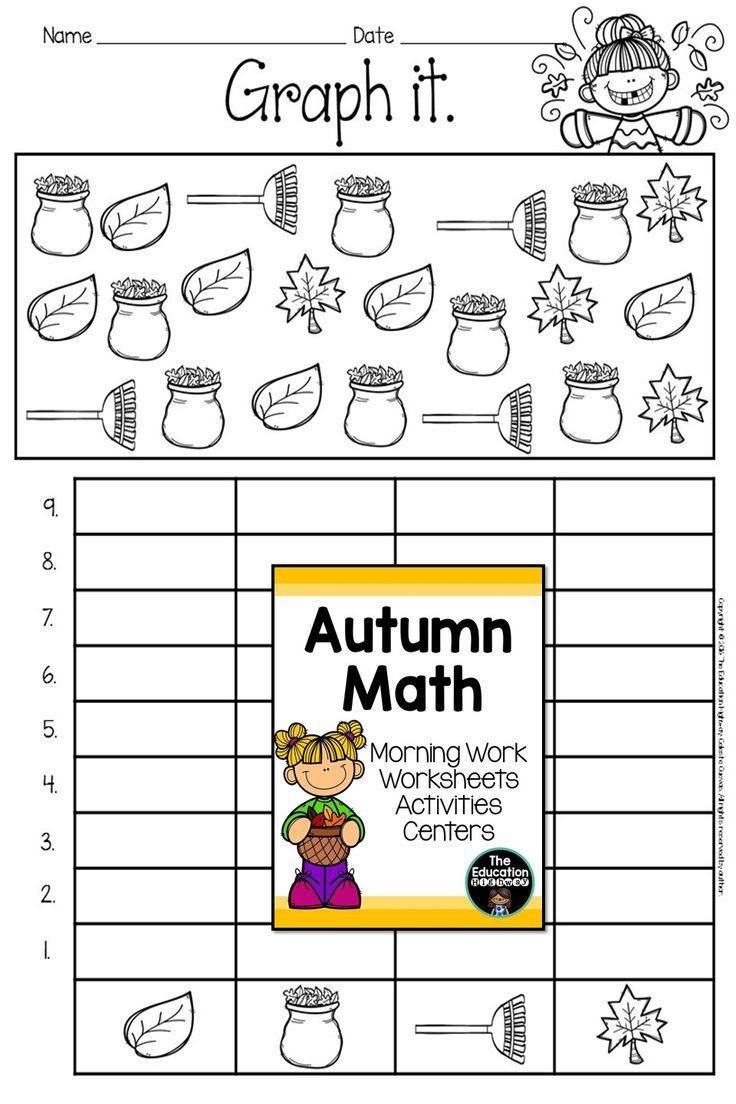 Worksheets Morning Math Worksheets autumn math worksheets and 13 centers pinterest graphing with for first second graders morning work activities