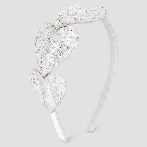 Cat   Jack Girls  Heart Headband - Cat   Jack Silver One Size ... dc036381307