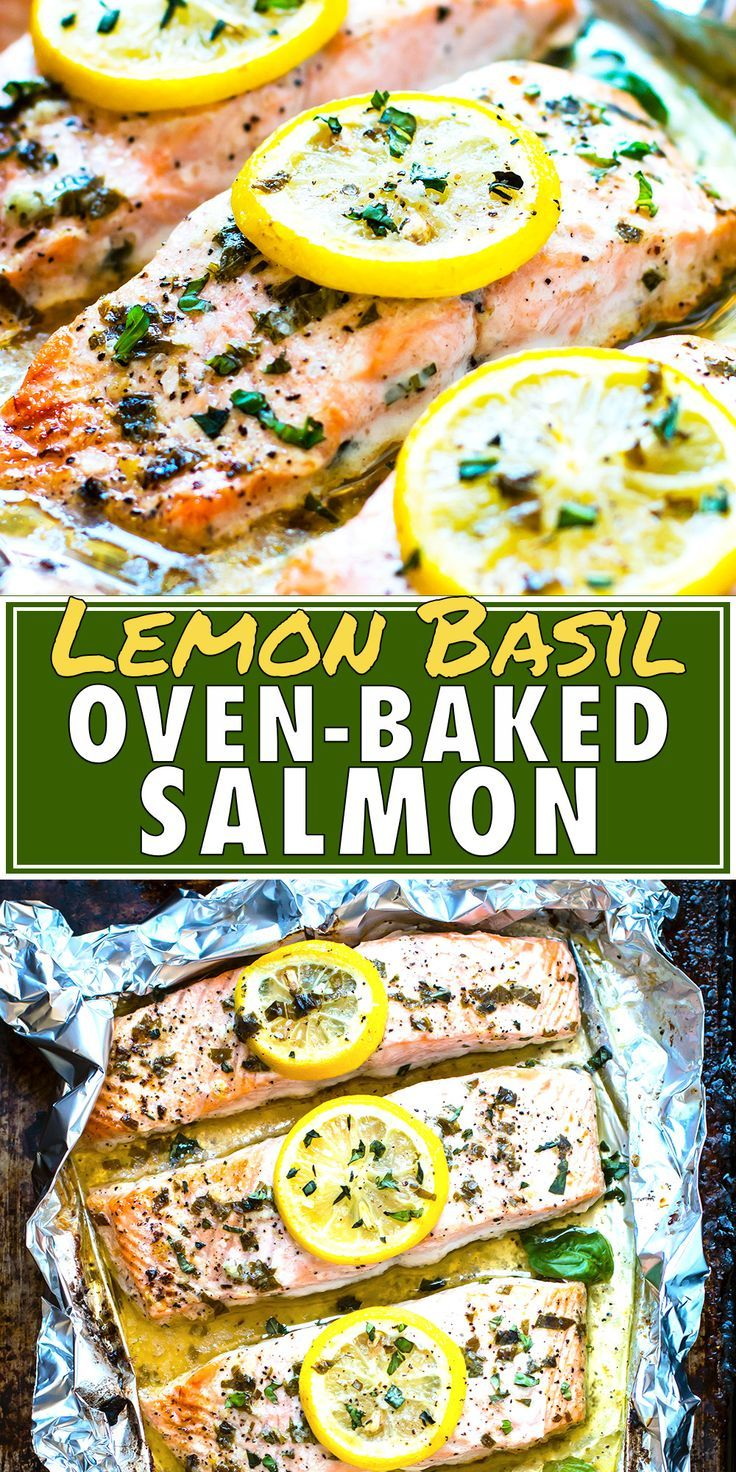 Basil & Lemon Baked Salmon in Foil images