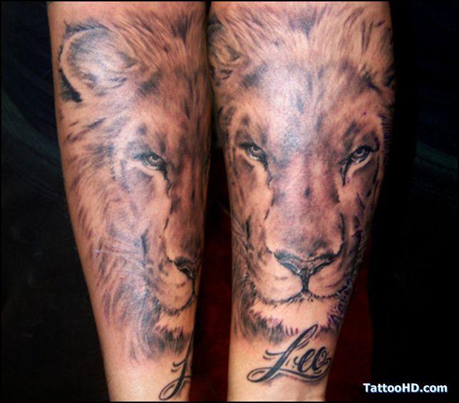 Taatoo de lion tatouage t te de lion m le avant bras - Tattoo avant bras ...