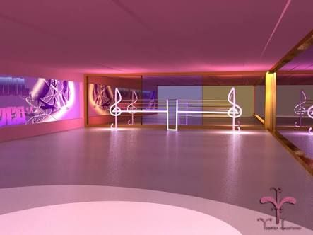 Neon Dance Studio Interior Design Google Search Dance Rooms Dance Studio Decor Dance Studio Design