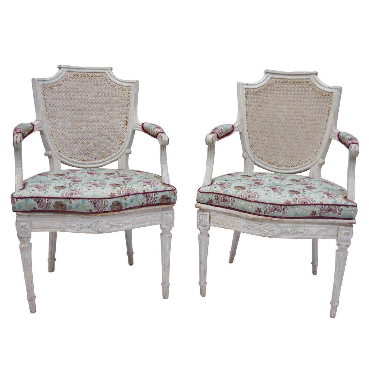 Pair of Louis XVI Period Armchairs 1