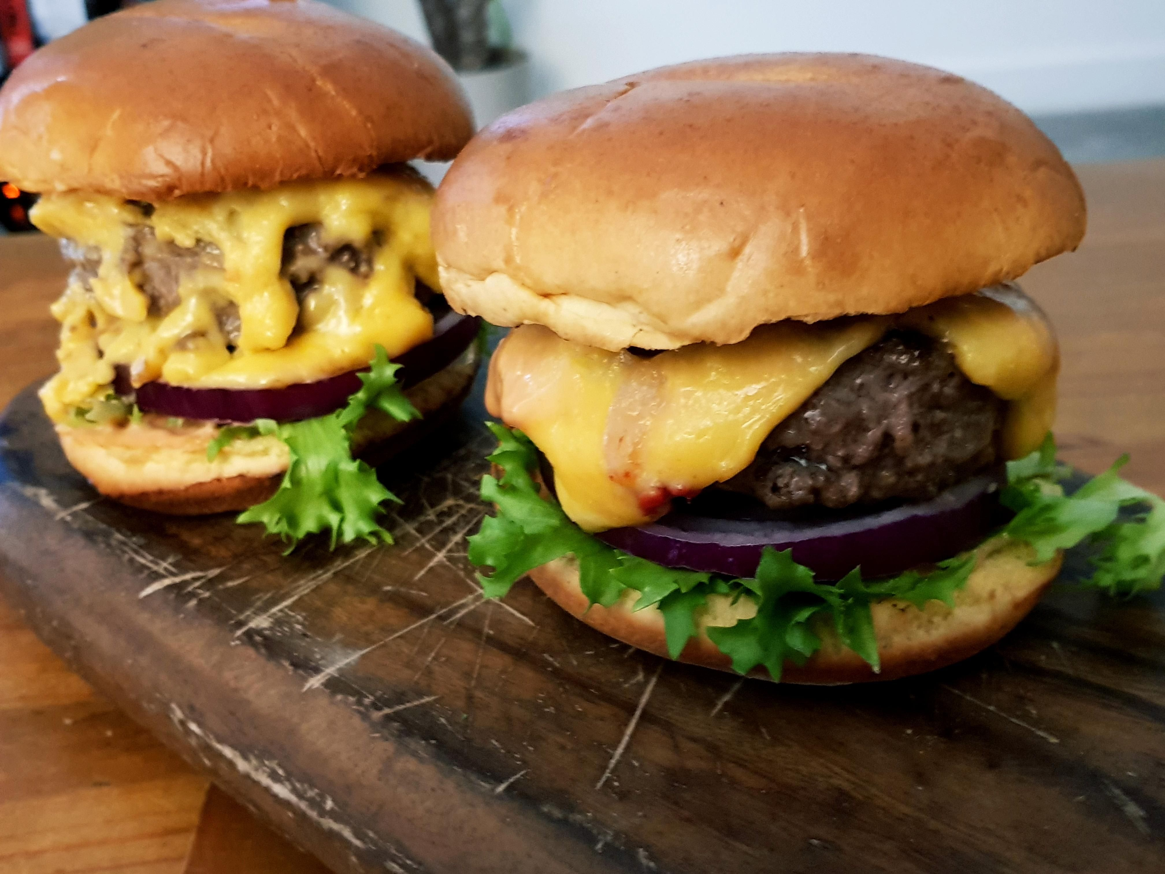Aberdeen Angus Burgers On Toasted Brioche Buns With -2916