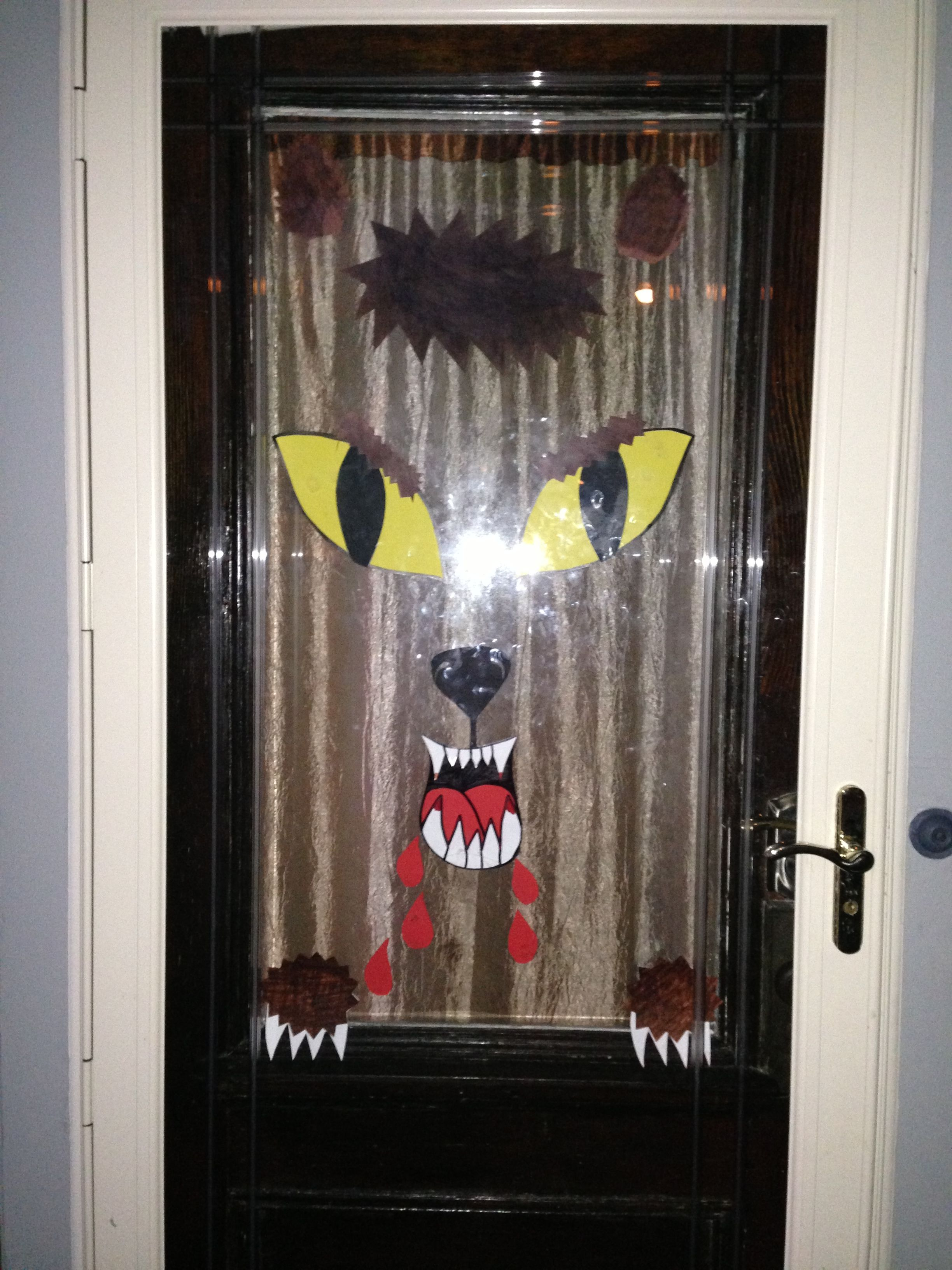 Werewolf Halloween door decoration Halloween Pinterest - Halloween Classroom Door Decorations