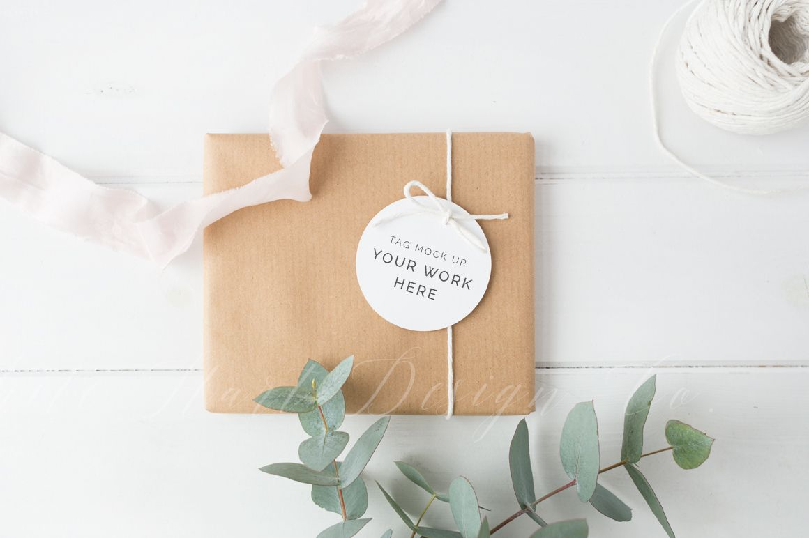 Gift tag mockup - styled stock image | Mockup and Design letters