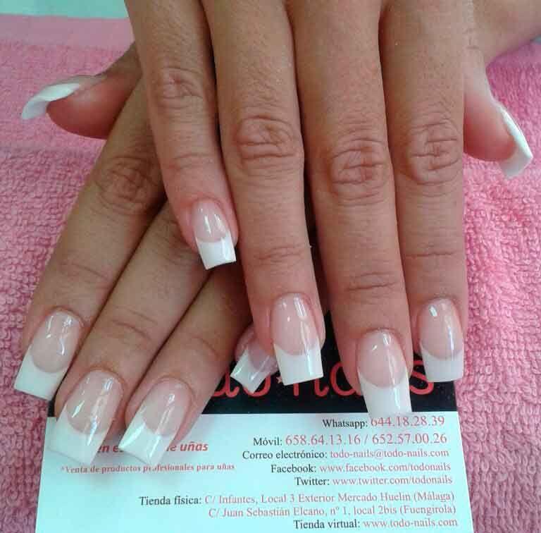 Uñas Acrílicas Estilo Francesa Uñas Nails