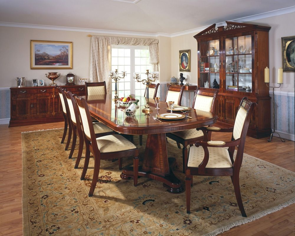 Traditional Mahogany Extending Dining Table As The Name Implies