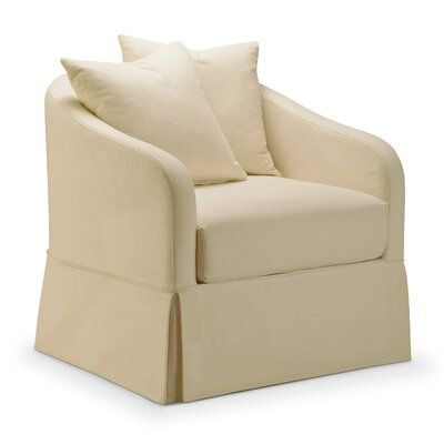 Darby Home Co Chaffin Slipcover Swivel Barrel Chair Swivel Barrel Chair Barrel Chair Slipcovers For Chairs