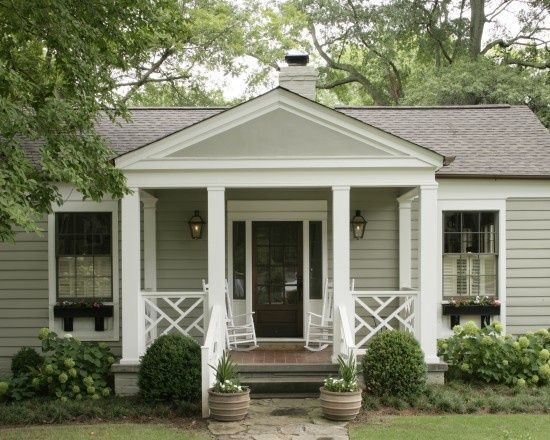 Front Porch With Built In Planters 1940s Bungalow Design House Ideas Cottage Curb Eal