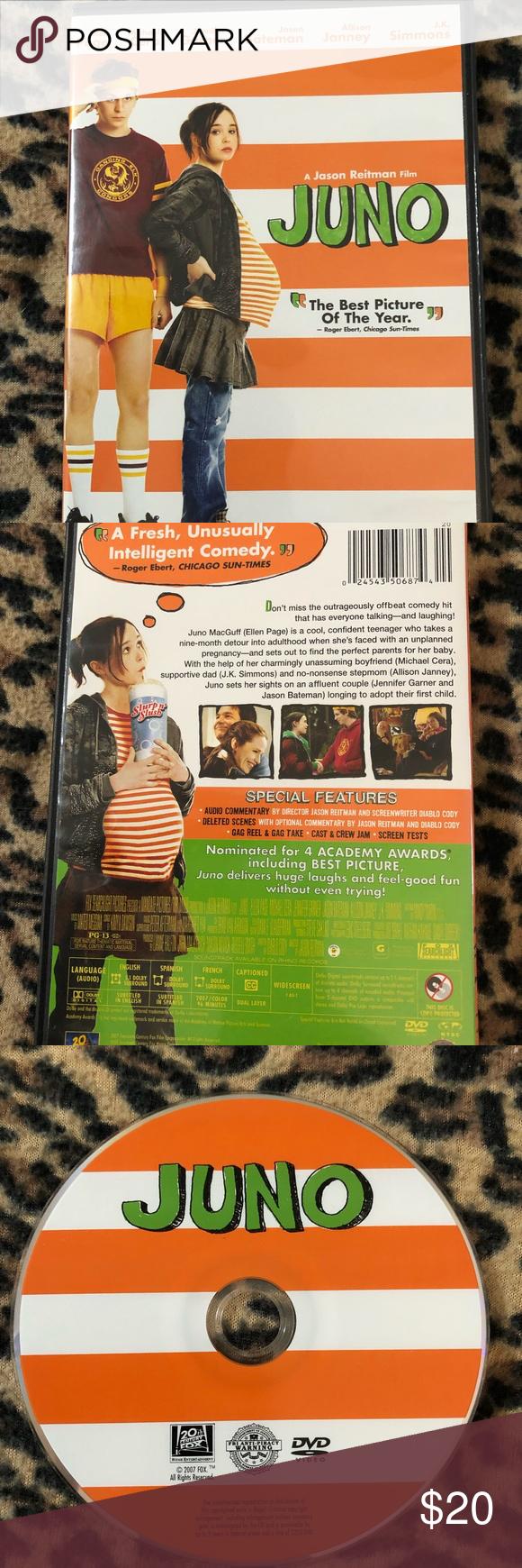 Dvd Movie Juno Rated Pg 13 Dvd Movies Dvd Movies