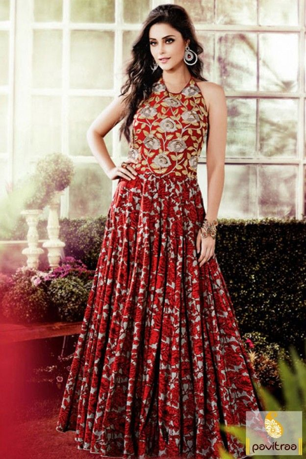 f490add66 Modern style beautiful red color party gowns for women. Create dynamic  style statement with this