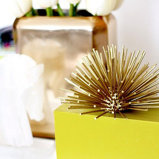 Diy To Try Gold Urchin Decor