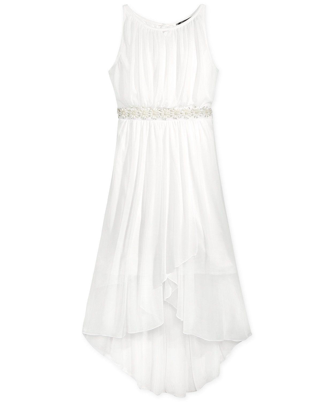 Crystal Doll Embellished Chiffon Party Dress, Big Girls (7-16 ...