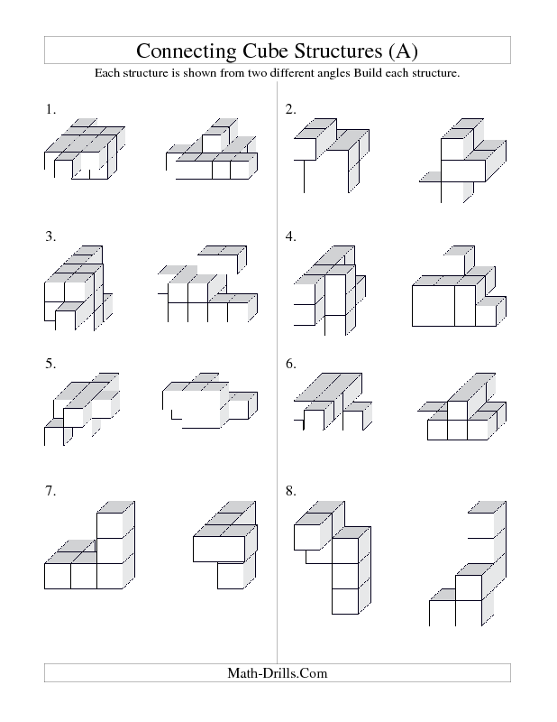 3d cube structures good activity for when students are done early or our geometry unit. Black Bedroom Furniture Sets. Home Design Ideas