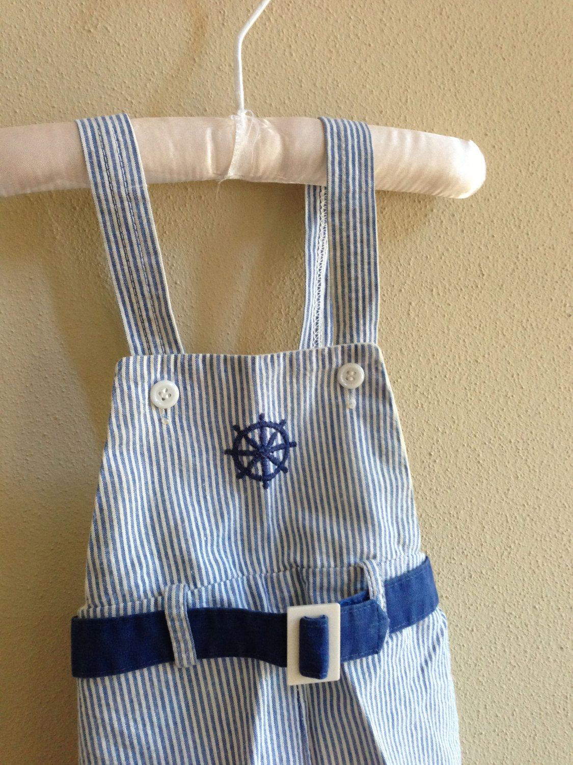 Vintage Seersucker Baby Romper by CleverlyCurated on Etsy, $10.00