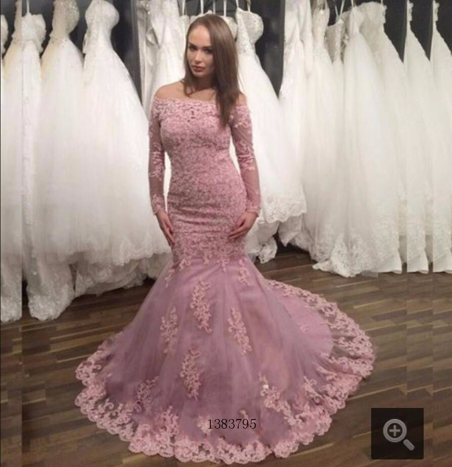 Click to buy ucuc gorgeous mermaid lace appliques prom dress off
