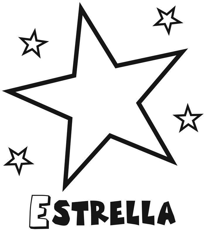 Dibujos Para Colorear Dibujos De Estrellas Estrellas Para Imprimir Dibujos Para Colorear