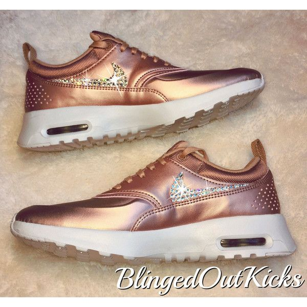 f9afc0b7c772 Ready to Ship Bling Nike Air Max Thea Limited Edition in Rose Gold...  ( 225) ❤ liked on Polyvore featuring shoes
