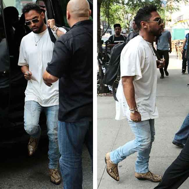 4bb5392ce1a0 Miguel sports Pierre Balmain Jeans and Saint Laurent Boots in New York City   pierrebalmain  jeans  saintlaurent  boots  miguel  newyork