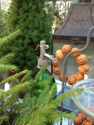 walnut wreath~ drill hole and string with wire
