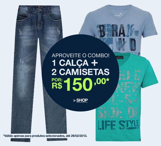 b280496a7 Dafiti combo calça e camisetas por apenas R$ 150 | Super Ofertas ...