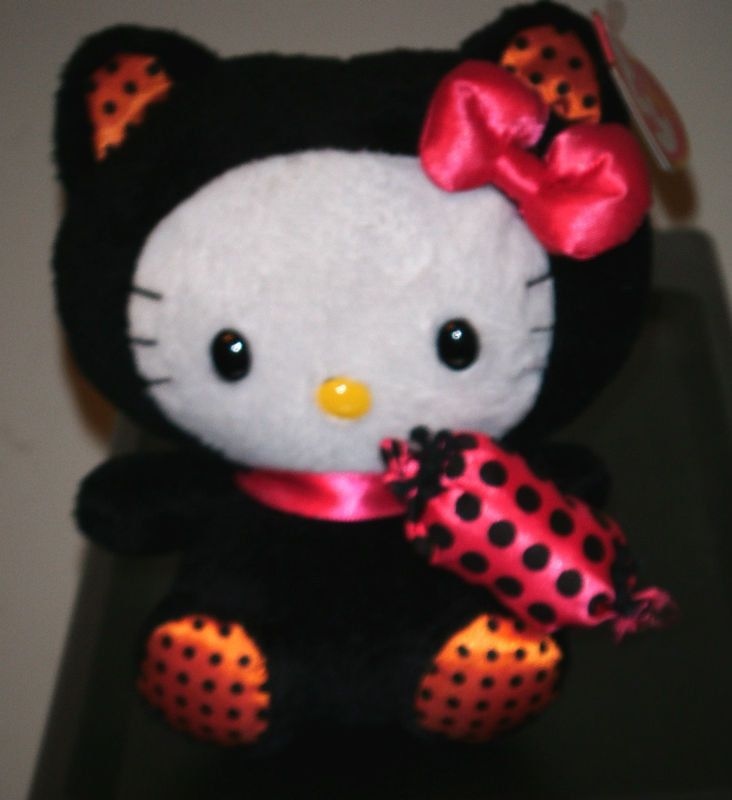 167be31b0dd Ty Beanie Baby ~ HELLO KITTY BLACK CAT (Halloween) ~MINT with MINT TAGS  ~RETIRED  TyBeanieBaby