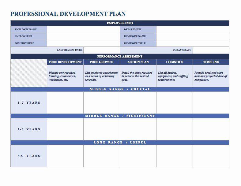 Employee Development Plans Template Luxury Free Employee ...